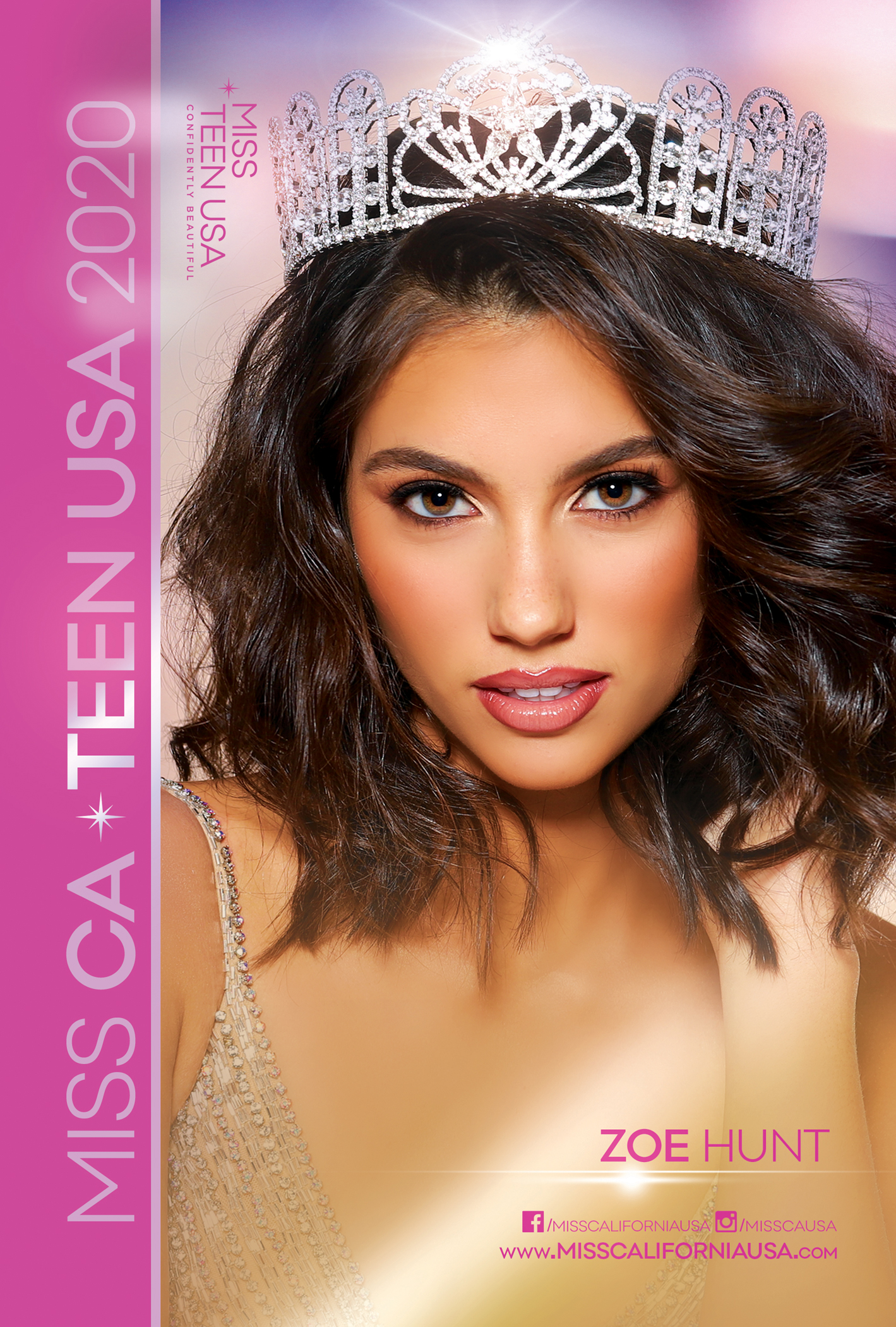 MISS CA TEEN USA 2020 Autograph Card