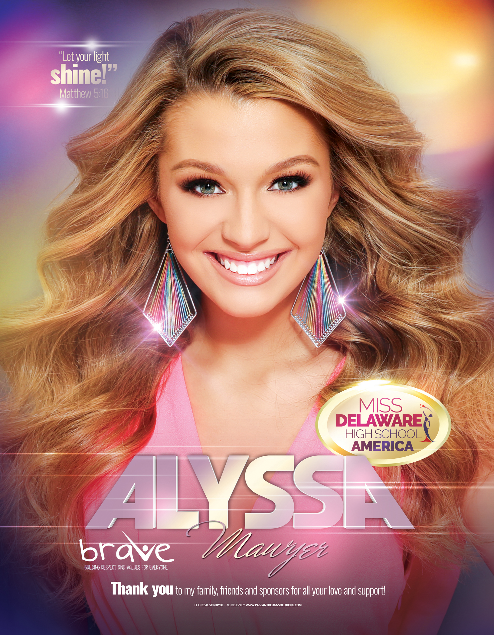 Pageant Program Book Ad Design