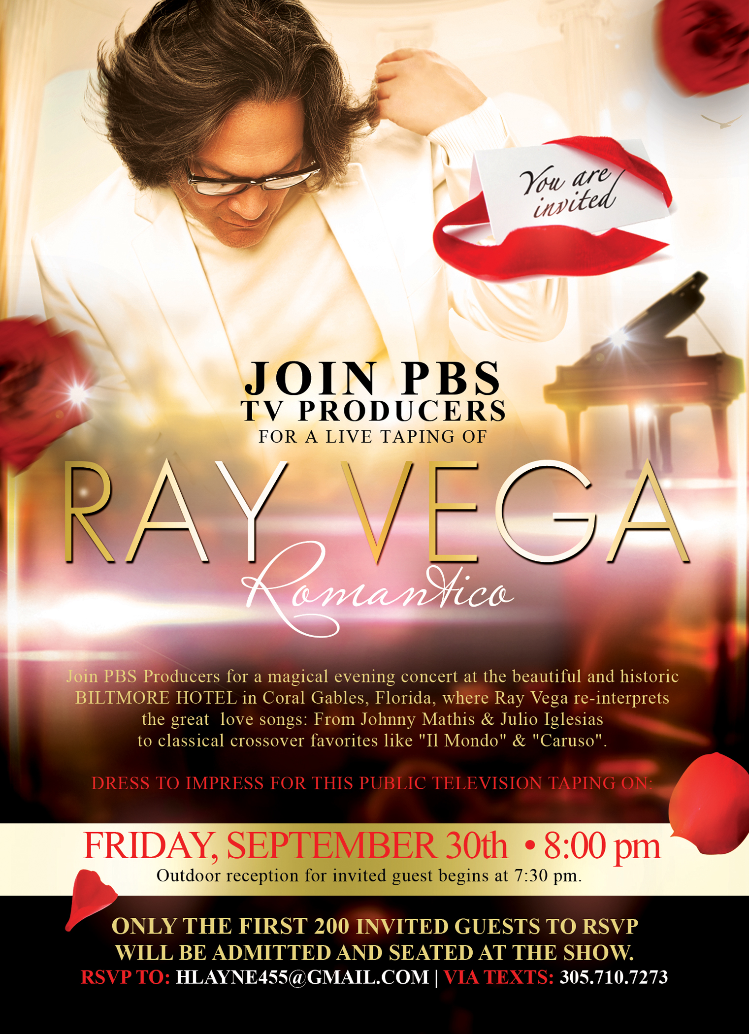 RAY VEGA Invitation