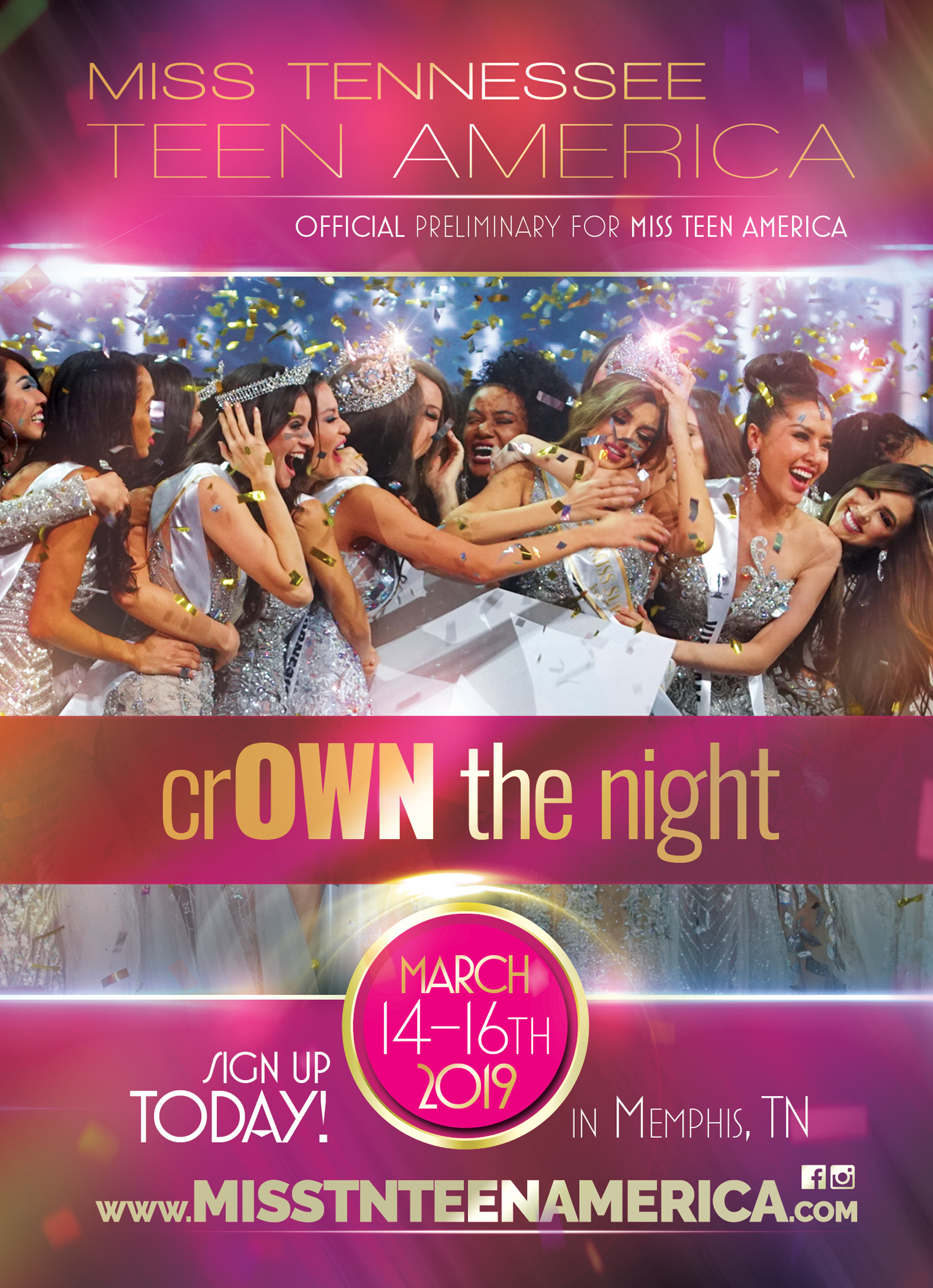 Pageant Promo Item Design