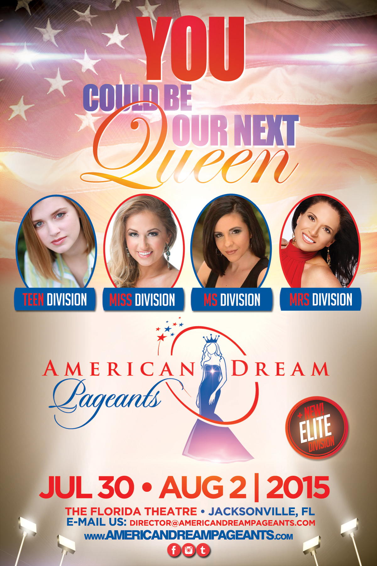 American Dream Pageants Promo Flyer