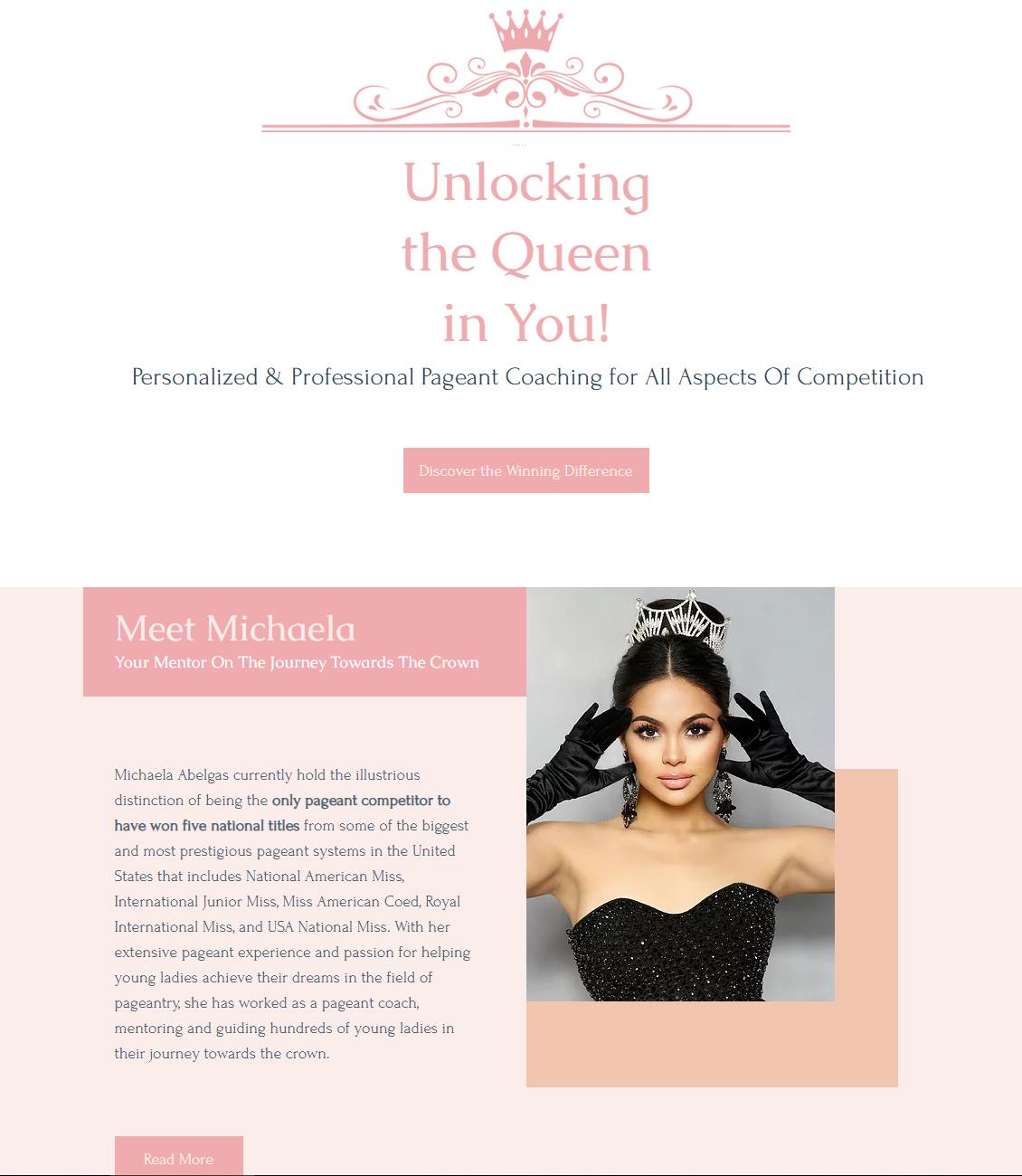 Pageant Website Design