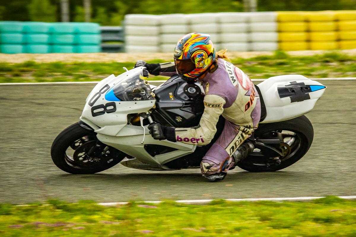 schnelles Rennmotorrad