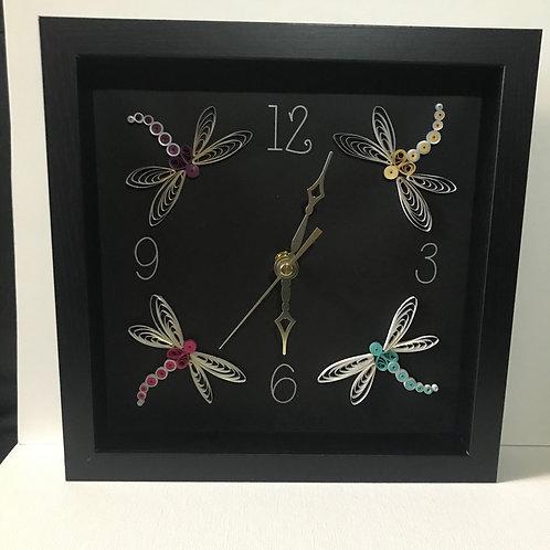 Mother of Dragonflies Clock