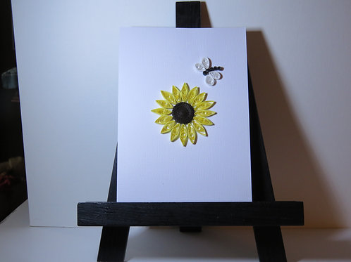 Sunflower and Dragonfly Card