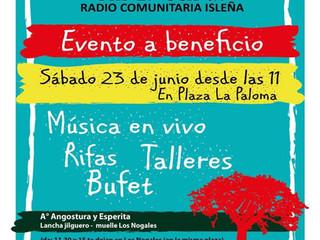 Este sábado 23/6 vení a darle un empuje a la naciente radio comunitaria EL CEIBAL. Estamos en los úl