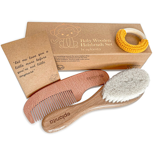 eplanita Baby Hair Brush and Comb Set for Newborns & Toddlers