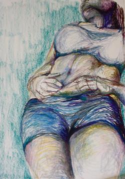 Life drawing, pastel