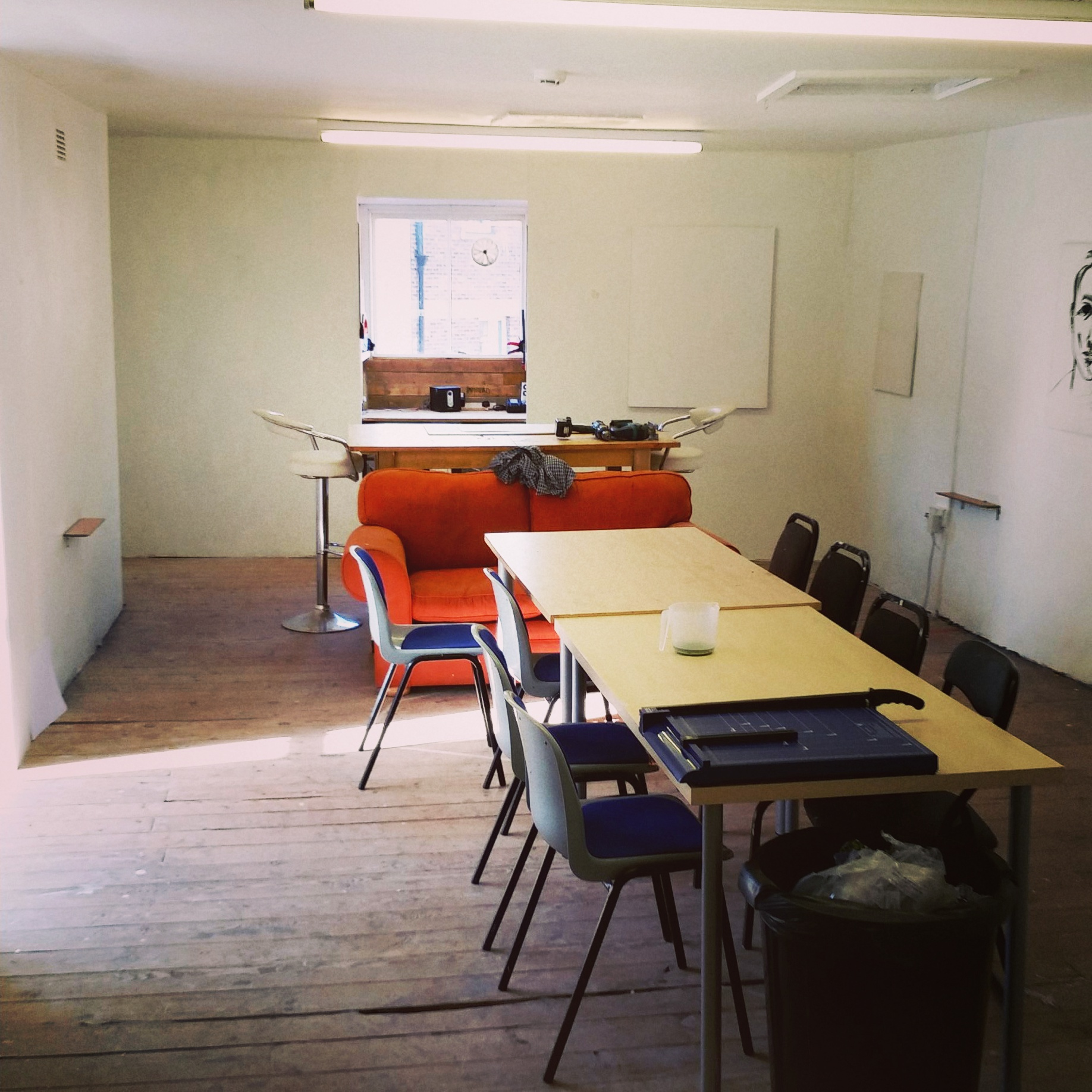 Gutted studio space