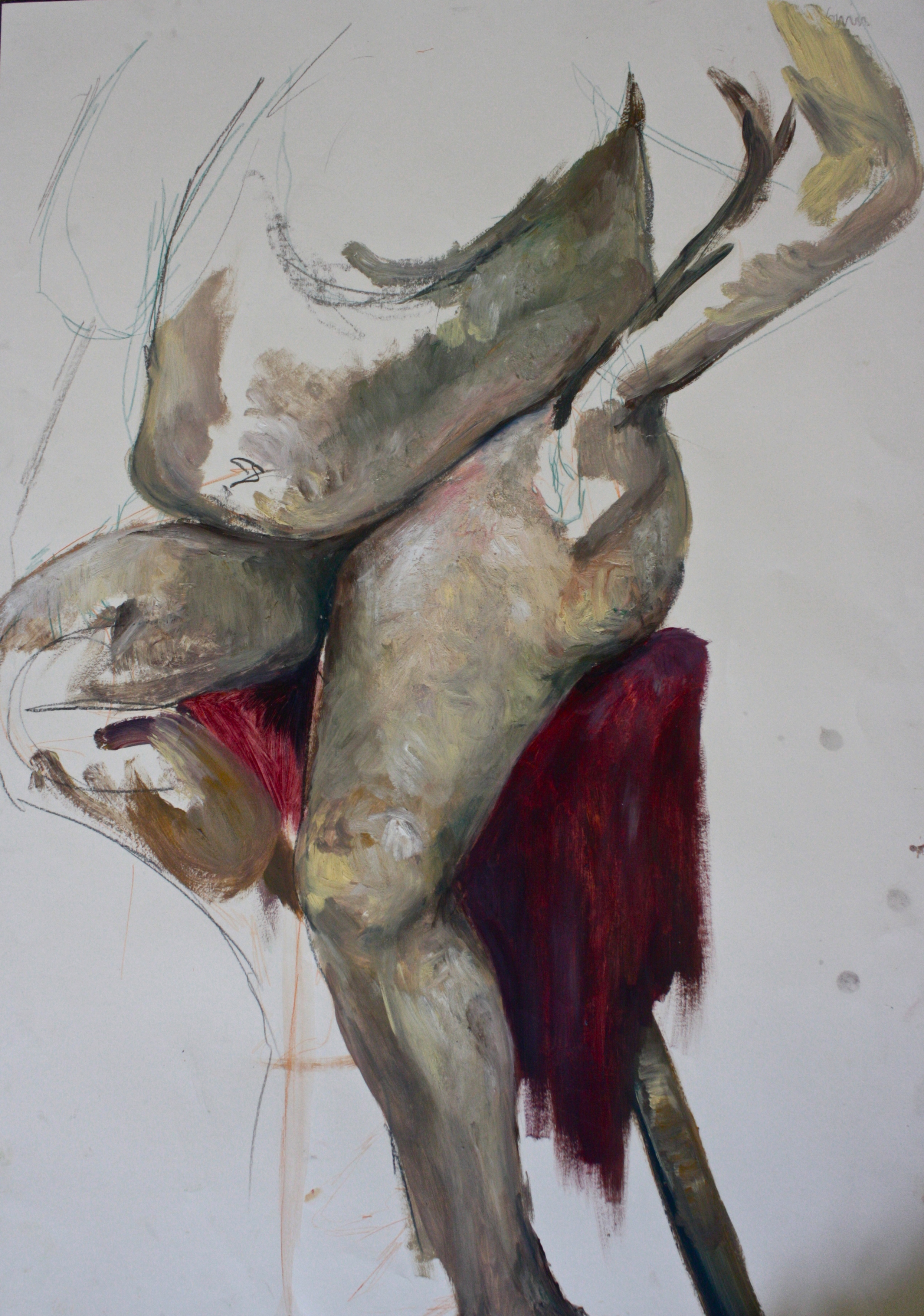 Life drawing with wax