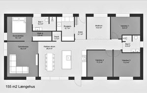 Længehus-155m2-grundplan