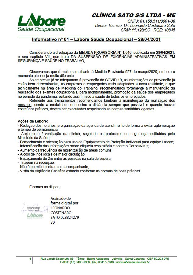 Informativo MP nº 1046 de 28/4/21