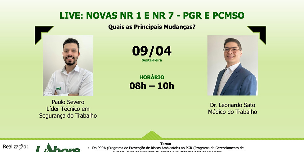LIVE LABORE - NR 1 e NR 7 - PGR/PCMSO