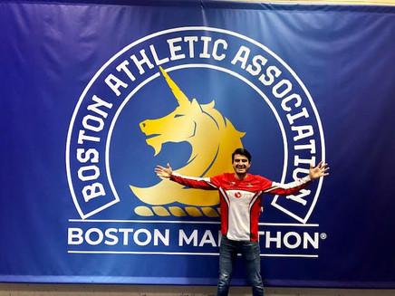 Oscar Ojeda rompió su récord en la Maratón de Boston