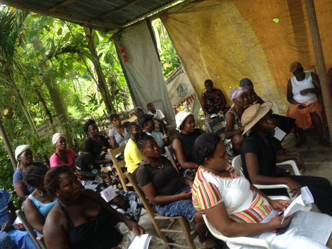IHI brings cancer education to communities in the west and southeast of Haiti.