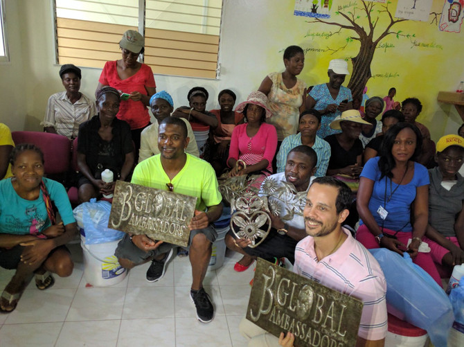 IHI Partners Jack Brewer and Andre Berto visit Haiti.