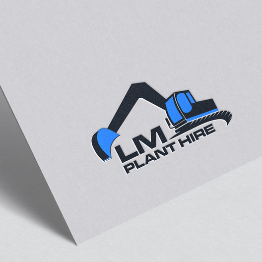 Logo design for LM Plant Hire by Studio Marly, Elgin graphic designer.
