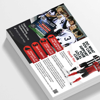 Flyer Design and Print for Elgin City by Studio Marly, Elgin