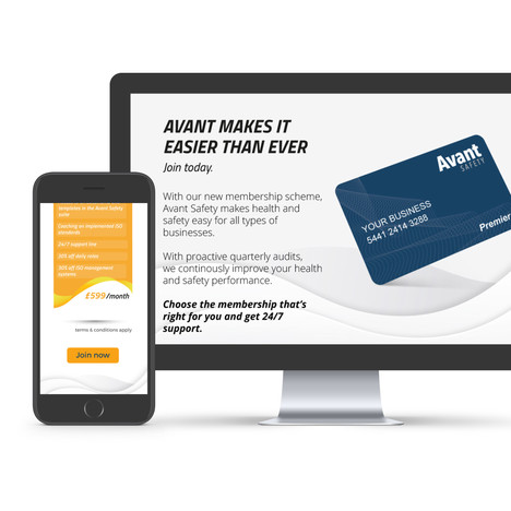 Avant Safety Landing Page Design