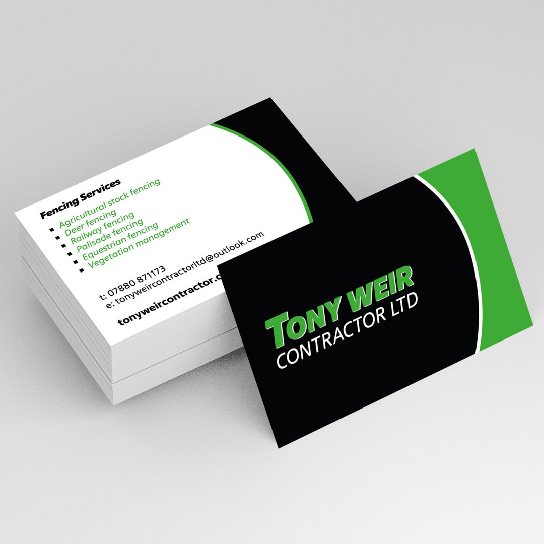 Business Card and Logo Design for Tony Weir Contractor Ltd by Studio Marly
