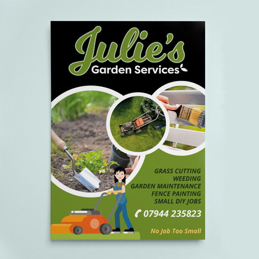 Flyer Design for Julie's Garden Services by Studio Marly