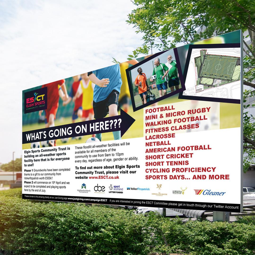 Elgin Sports Community Trust Banner Design