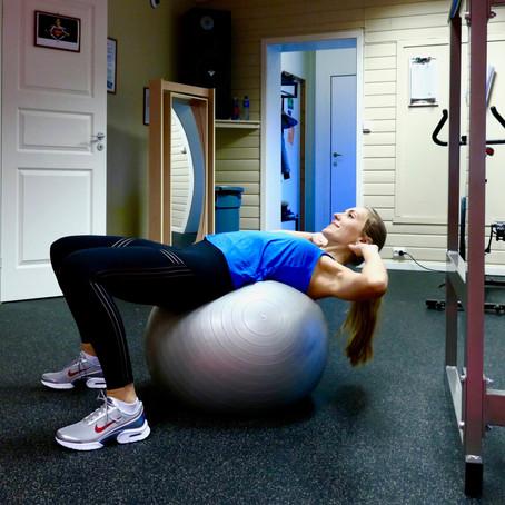 Treningsøkt med Swissball