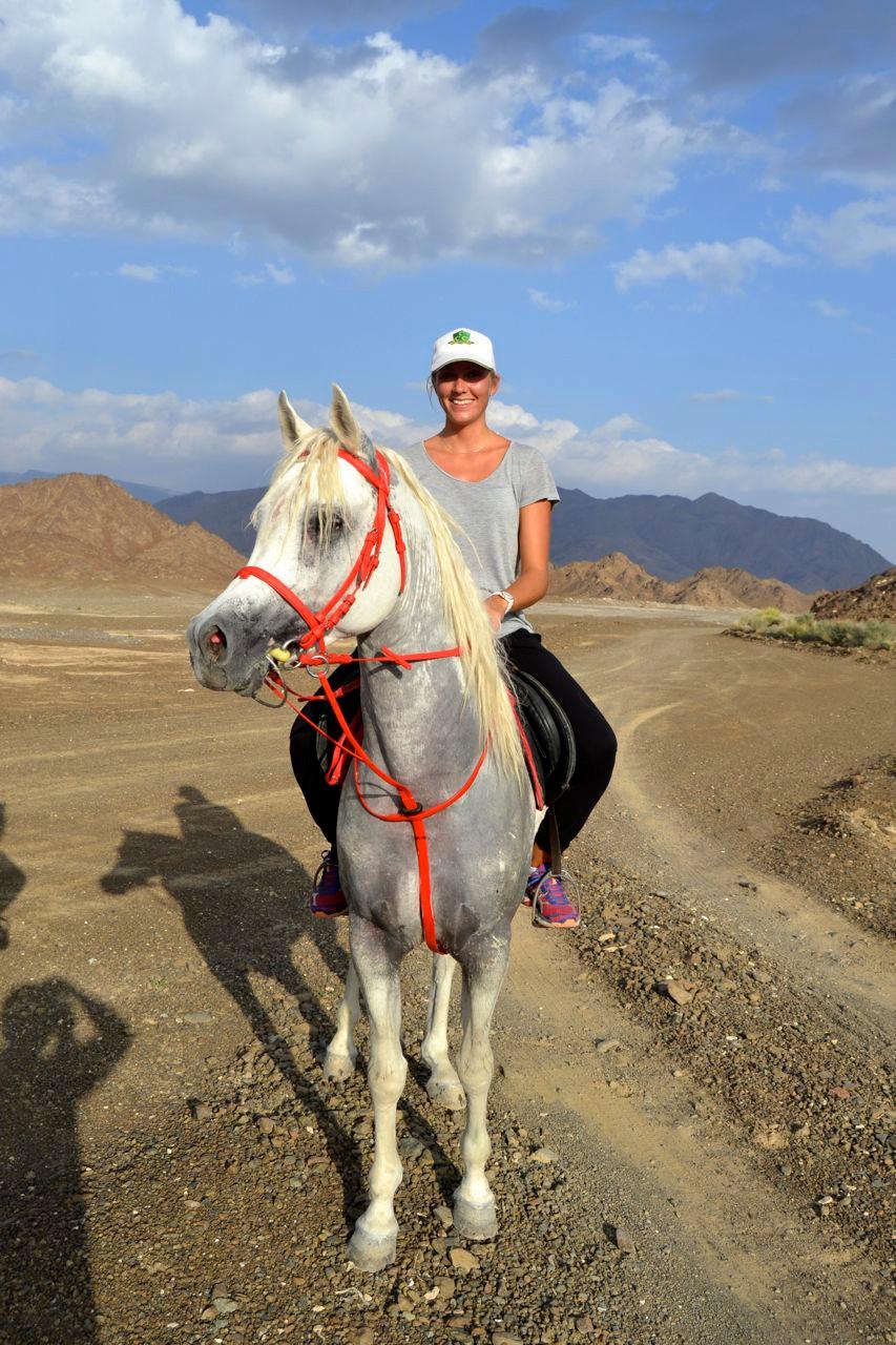 Min drøm gikk i oppfyllelse i Oman - ri på araberhingst i ørkenen