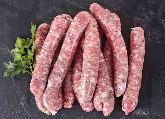Fresh red and white sausages (base price: 0.5kg approx.)