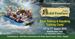 White Water Rafting and Kayaking Training Camp