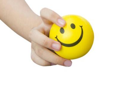 Balle anti-stress smiley