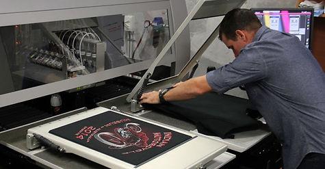 Worker using printer