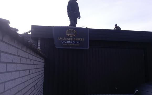 Omläggning av papptak - Stenkällan i Malmö