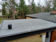 Renovering av tak i Höllviken - Papptak