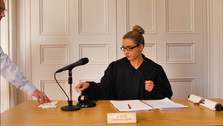 Judge Cherub Cupid in Law and Call Her film