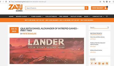 Lander Design Journey