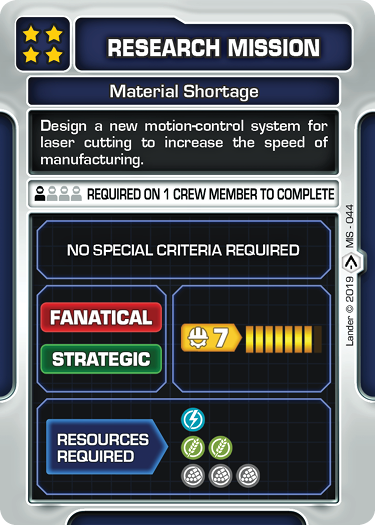 Material Shortage