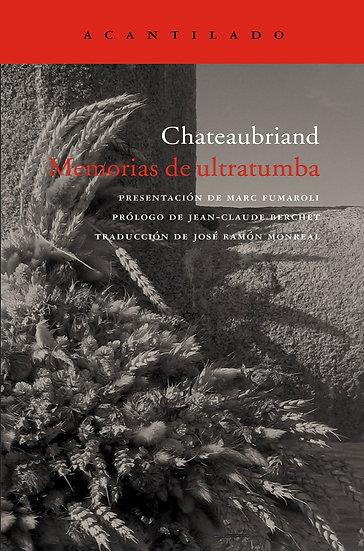 MEMORIAS DE ULTRATUMBA (ESTUCHE CON 4 TOMOS). DE CHATEAUBRIAND, FRANCOIS-RENE