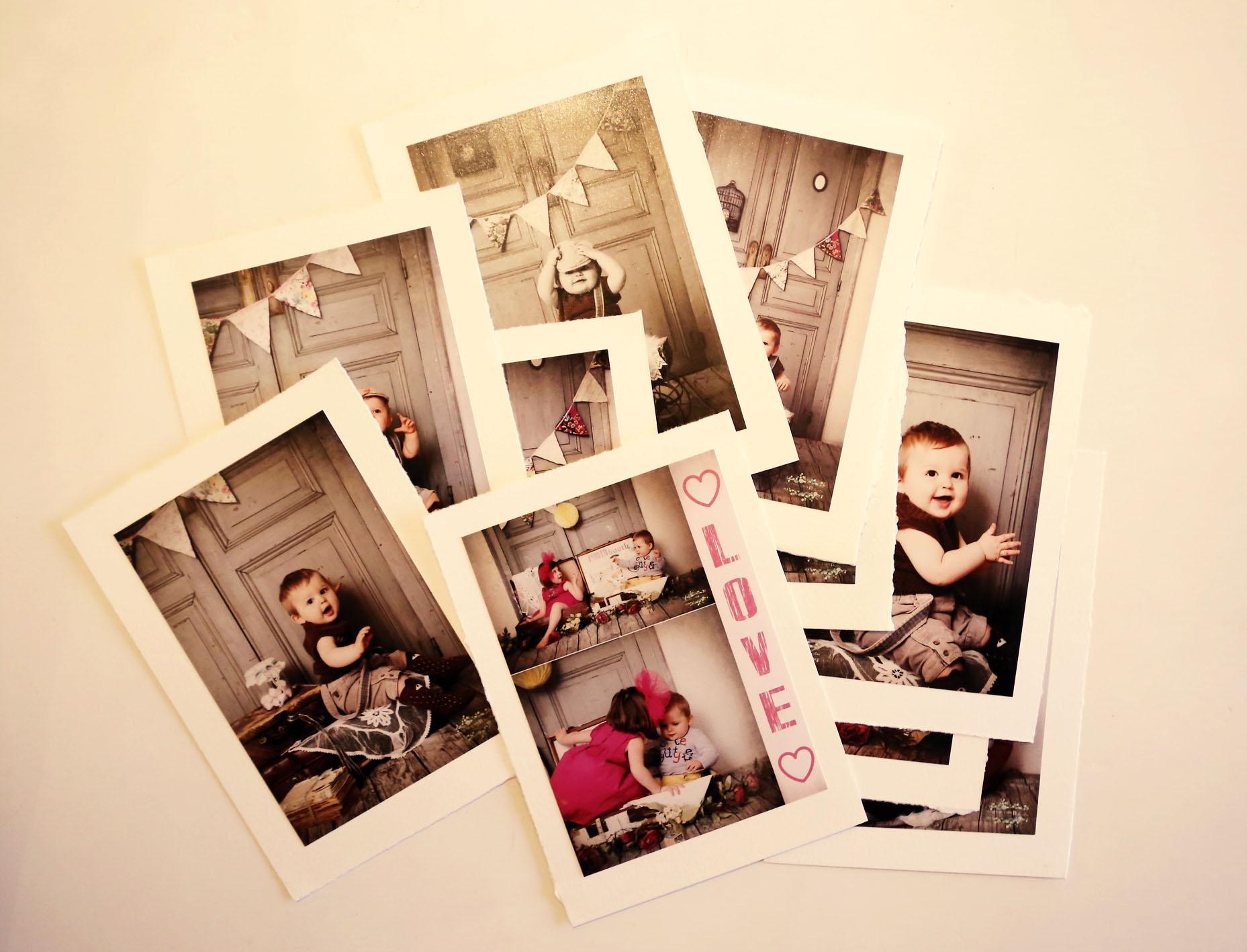 Photos dans pochette lin
