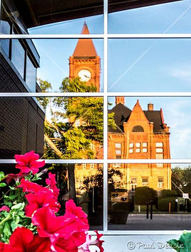 Fairfield Court House reflection - Copyright Paul Delisle