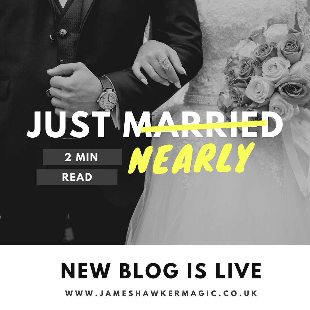 Cardiff magician James Hawker gives an update, talks about a range of wedding issues