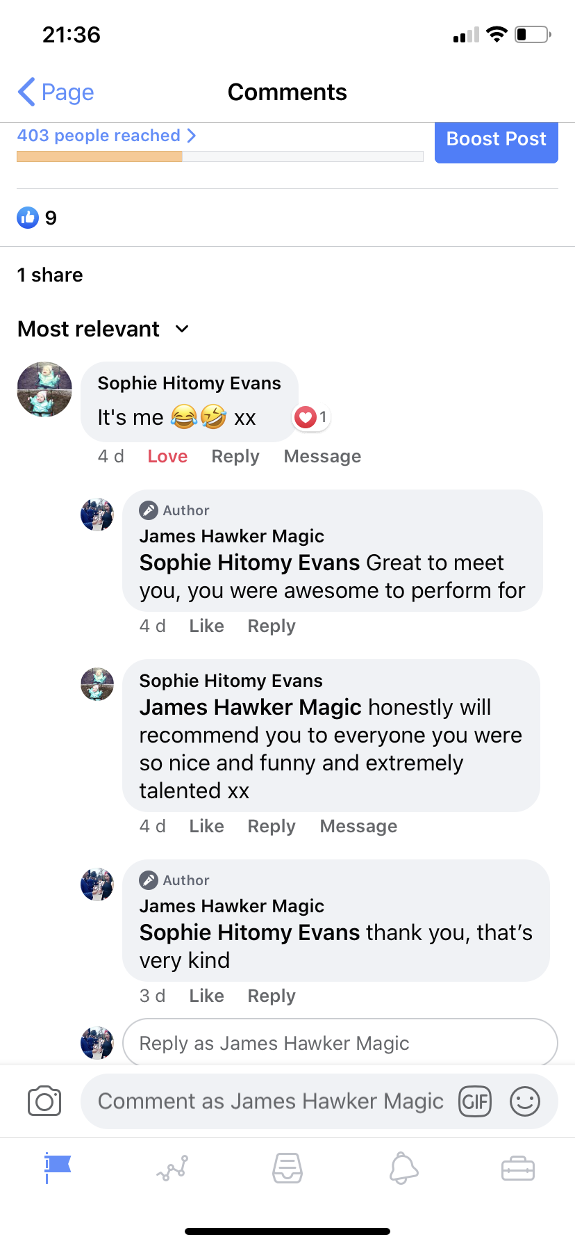 Cardiff magician James Hawker gets amazing reviews at a wedding fayre