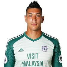 Cardiff magician James Hawker performs for Cardiff City FC goalkeeper Neil Etheridge for the third time