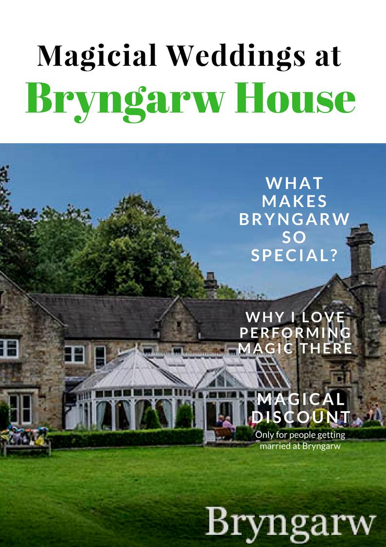 cardiff wedding magician, bridgend magician, Bryngarw house, Bridgend
