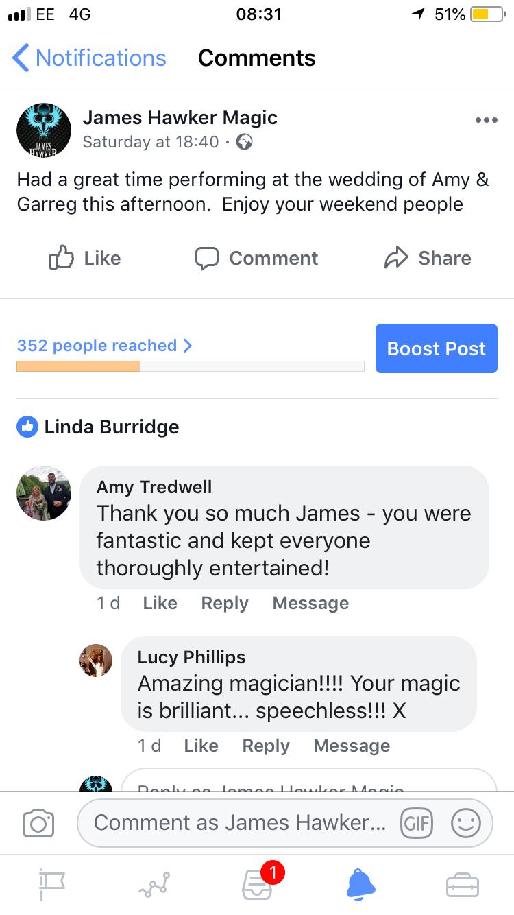 cardiff magician, cardiff wedding magician, magicians south wales