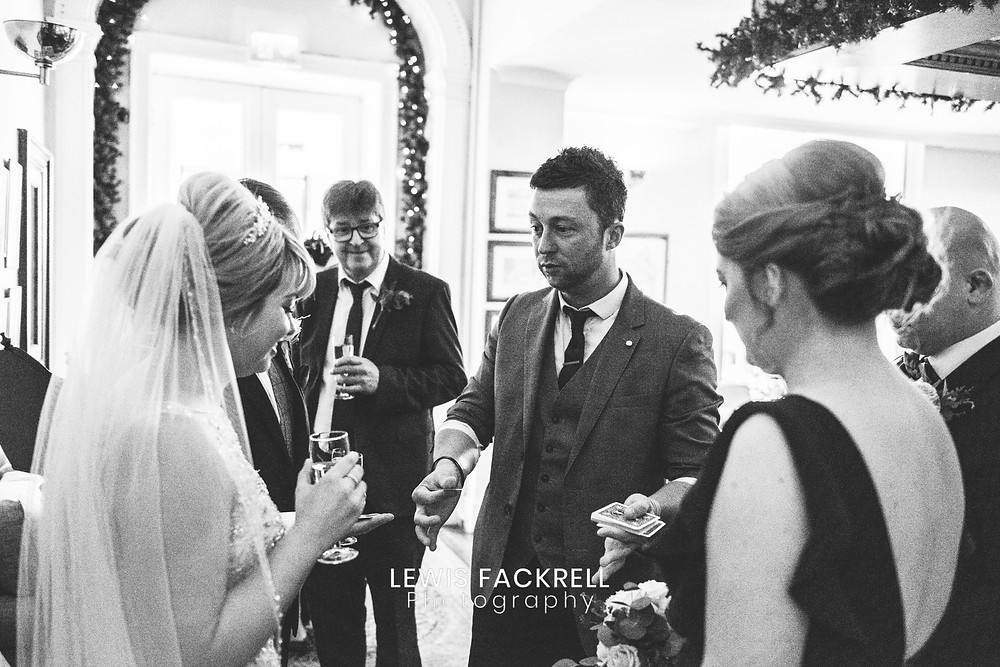 cardiff magician james hawker performs as a wedding magician in Cardiff