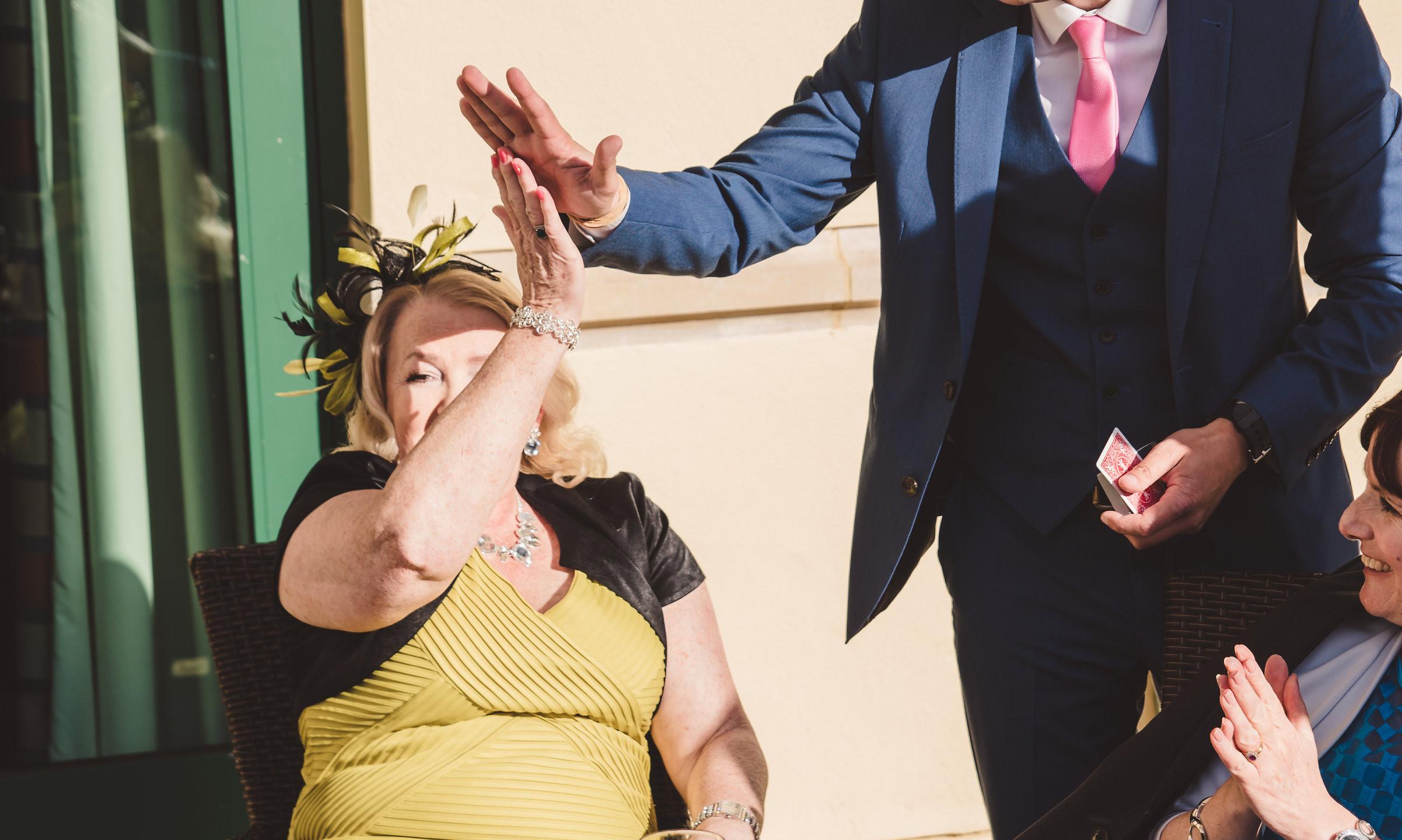 wedding magician south wales
