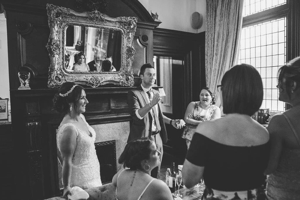 Cardiff magician performs at a wedding at the Coal Exchange Cardff