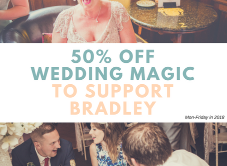 Hire a wedding magician 50% OFF and support a great cause
