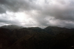 Crete mountains in a storm